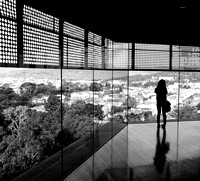 In the de Young, Overlooking the City